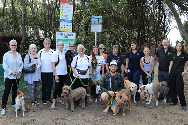 The group of dog friendly campaigners