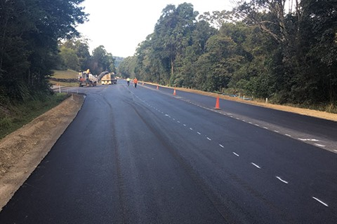 Broken Head road fresh pavement
